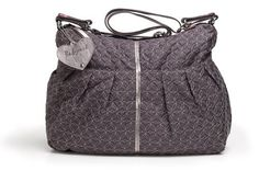 Babymel Amanda Quilted Diaper Bag,Pewter,One Size