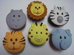 Zoo Cupcakes by *Marcella-Youko on deviantART