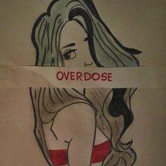 #overdose #exo #girl #drawing #blue #gray #red #black #polishkpoper #Kpop #music