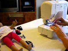 How to Make Doll Shoes - V Pumps Pt 5. How to add an optional strap across the pump