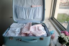 [preparando a chegada da Camila] a mala da bebé