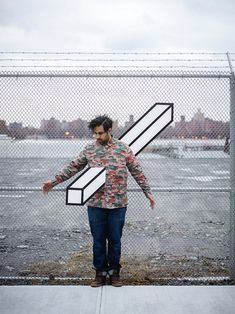"""Growing up fascinated with magic, it is no wonder that New York based artist Aakash Nihalani has made a name for himself creating illusional tape art. His work of cubes, rectangular cuboids and other geometric shapes have animated the streets of Brooklyn, Vienna and New Delhi. Nihalani's outdoor art has one specific advantage: """"working with.... http://illusion.scene360.com/art/52918/nihalanis-urban-illusions/"""