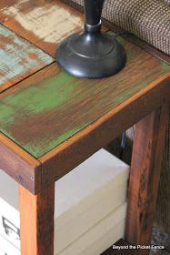 Beyond The Picket Fence: Reclaimed Wood Sofa Table Tutorial