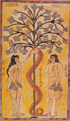 Adam and Eve  ~ wonderful fresco (circa 900-950 AD)!!!!