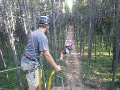 Ziplining at @Carrie Brown Hills Eco-Adventures  - Cypress Hills Interprovincial Park, #Saskatchewan