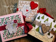 Thoughts That Stick.....Ghirardelli treat holders #stampinup #valentine treats #valenines