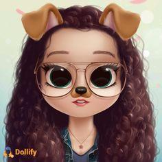Check out my doll! Kawaii Girl Drawings, Bff Drawings, Cute Animal Drawings Kawaii, Cute Girl Drawing, Cartoon Girl Drawing, Amazing Drawings, Cute Girl Wallpaper, Cute Disney Wallpaper, Cute Cartoon Wallpapers
