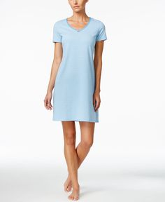 Nautica Short-Sleeve Striped Nightgown Nightgowns For Women 210761b06