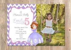 Disney's Sofia The First  Birthday Invitation. by 4MustardSeeds, $16.00