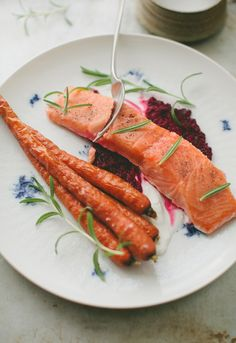 Sous Vide Salmon with Roasted Beet Sauce
