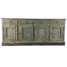 19th Century French Oak Painted Buffet | From a unique collection of antique and modern buffets at https://www.1stdibs.com/furniture/storage-case-pieces/buffets/