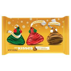 Kisses Holiday Milk Chocolates Filled with Caramel 10 oz