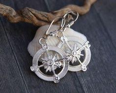 Kolczyki Róża Wiatrów - srebro 925