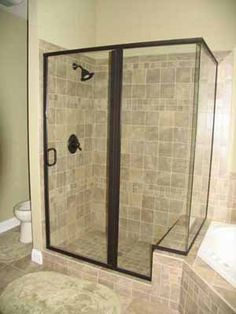 Cultured Marble Shower Stall And Bath Tub