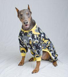 Doberman Pinscher Pajamas Coat or Sweater by ZolaJane on Etsy, $45.00