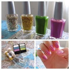 How to make your own nail polish - This uses clear nail polish with glitter and eye shadow added for color. It sounds cheaper than buying and hunting for the colors you want. I gotta try this!
