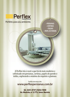 Flyer Perflex persianas e cortinas.