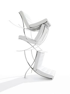 The Barcelona Chair - easily one of the greatest chairs ever designed. The real question is, did Mies van der Rohe have anything to do with the actual design, or was it all Lilly Reich?