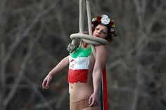 Femen protest during Rouhani visit