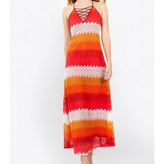 Multicolor Crochet Maxi Dress