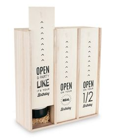 Look at this Marketplace Birthday Three-Bottle Wine Box on #zulily today!