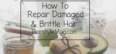 How to Repair Damaged & Brittle Hair Try On Hairstyles, Popular Hairstyles, Everyday Hairstyles, Pretty Hairstyles, Bangs Hairstyle, Braid Bangs, Hairstyle Ideas, Updo, Dyed Natural Hair