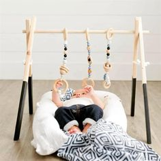 Wood Baby Gym With Toys   Jane