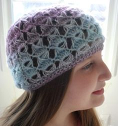 My Bespoke broomstick lace beanie Hat - Free Crochet tutorial available