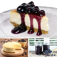 Blueberry Vegan Cheesecake