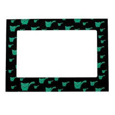Shop Black & Green Kitty Pattern Magnetic Frame created by thepawkinglot. Magnetic Picture Frames, Creature Comforts, Cherished Memories, Succulents Diy, Where The Heart Is, Business Supplies, Pet Shop, Mom And Dad, Colorful Backgrounds