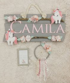 Super baby decor name products Ideas Baby Shawer, Baby Box, Baby Room Decor, Nursery Decor, Baby Crafts, Diy And Crafts, Baby Door Hangers, Baby Tumblr, Baby Name Signs