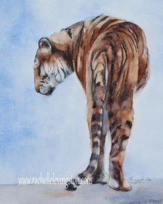 Bengal Tiger HEAT PRESS TRANSFER T Shirt Sweatshirt Quilt Fabric Block #110o