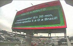 Mundial Brasil 2014 en las pantallas de Clear Channel Perú monitoreados vía cámara web.