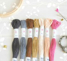 "Embroidery Floss ""Portrait Pallete"" - 7 Skeins Pack - Embroidery Thread by Sublime - Sublime Stitching - Embroidery Floss - Cotton Floss Metallic Thread, Silk Thread, Cotton Thread, Embroidery Scissors, Mint Blue, Sewing Tools, Happy Colors, Wool Felt, Frosting"