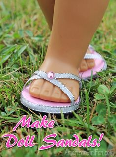 Doll Craft: How to Make Doll Sandals (With Free Pattern)!