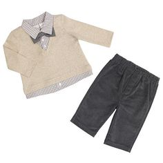 FAO Schwarz Boys 2 Piece Faux Layered Long Sleeve Sweater with Bow Tie and Pant Set. Masons carl halloween costume. At babies r us for 26$.