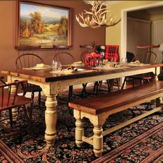 Custom Crafted Hand-Crafted Farm Table - PFDT