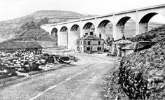 Construction of Ashopton Viaduct and Ladybower Reservoir, Ashopton Inn, Sheffield to Glossop Road, in foreground South Yorkshire, Yorkshire England, Yorkshire Dales, Scenic Photography, Aerial Photography, Night Photography, Photography Tips, Landscape Photography, Yosemite National Park