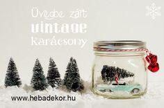 Üvegbe zárt vintage karácsony