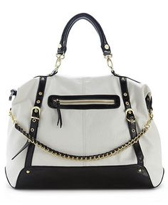 Steve Madden Handbag, Bgizelle Satchel Web ID: 692100  Overall: 3 / 5  Rating breakdown 2 reviews  5 Stars04 Stars13 Stars02 Stars11 Star01 of 250%of reviewers recommend this product.2 reviews   Write a review for a chance to win a $1000 gift card!  see details  Write a review   Share  Product Q  Be the first to ask a question.  Orig. $98.00  Now $72.99