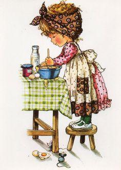 Vintage Postcard Seventies Mary May Sarah kay by CuteEyeCatchers,