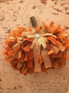 Dollar Tree Pumpkins, Burlap Pumpkins, Dollar Tree Fall, Dollar Tree Decor, Fabric Pumpkins, Dollar Tree Crafts, Fall Pumpkins, Painted Pumpkins, Diy Fall Wreath