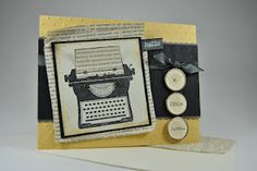 using the mini tags as typewriter keys as such a great touch!