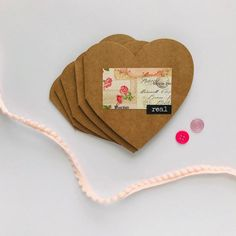 Valentine's Greeting Cards - Friendship Cards - Heart Cards - Set of 5 - Heart Die Cut Blank Cards Personalized Gift Tags, Personalized Stationery, Valentine Greeting Cards, Valentines, Snail Mail Pen Pals, Friendship Cards, Heart Cards, Stationery Set, Folded Cards