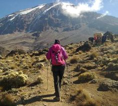 Rachel taking the Mweka trail with Private Expeditions #Kilimanjaro
