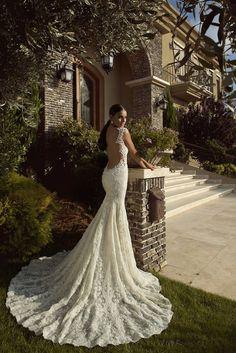 low back lace wedding dress by Galia Lahav