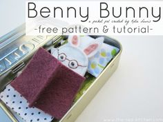 the red kitchen: Benny Bunny -- A Pocket Pal (Free Pattern & Tutorial)