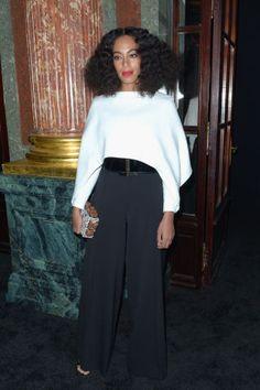 See who's sitting front row at Paris Fashion Week: Solange Knowles at Balmain: