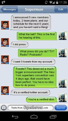 Texts From Heroes. Gotta love tumblr.