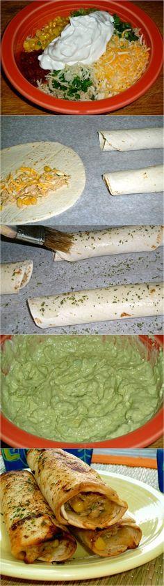 AVOCADO CREAM SAUCE (w/ tortilla rollups) - avocado, Greek yogurt, lime, chile powder